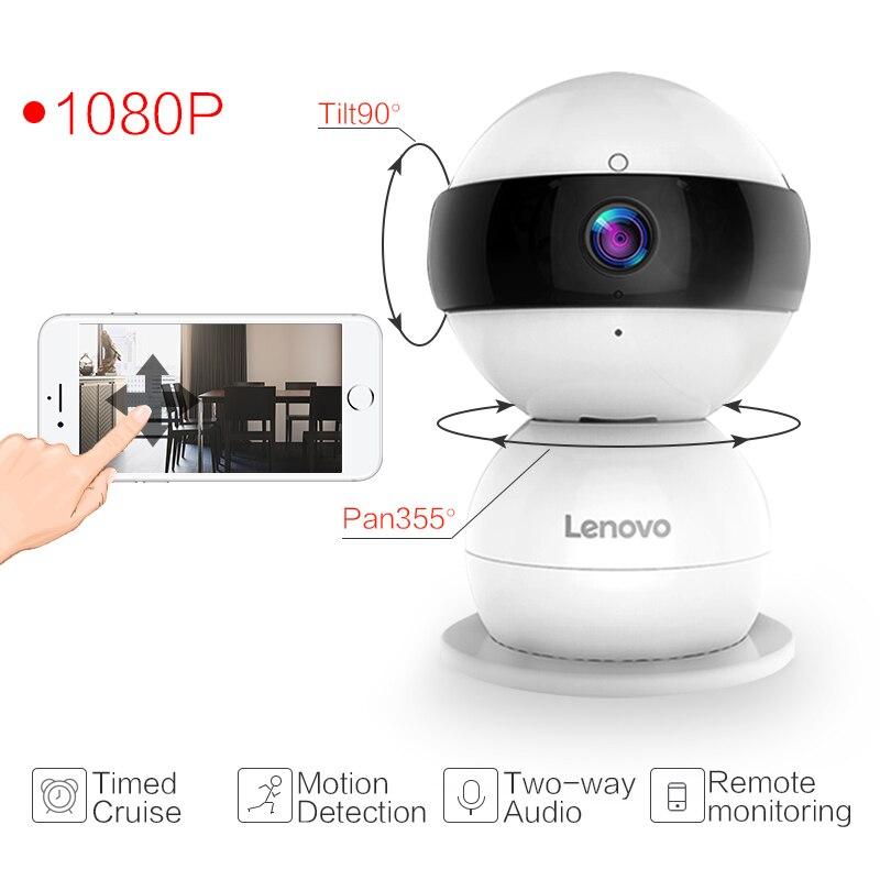 Lenovo WiFi IP Caméra Bonhomme De Neige SR Sans Fil Mini HD 1080 P Moniteur PTZ cctv securi Vidéo Surveillance cctv Caméra montre bébé