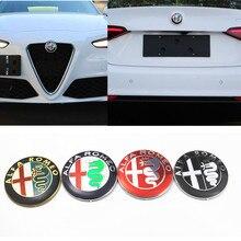 2 pcs 74mm 7.4 cm Logotipo Do Carro emblema emblema autocolante para ALFA ROMEO Giulietta Mito 147 156 159 166 aranha GT acessórios do carro