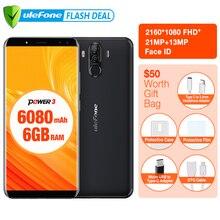 """D'origine Ulefone Puissance 3 6.0 """"FHD + Écran 6050 mAh Grosse Batterie Smartphone Android 8.1 Visage ID & Tactile ID Quatre Caméras 21MP Caméra"""