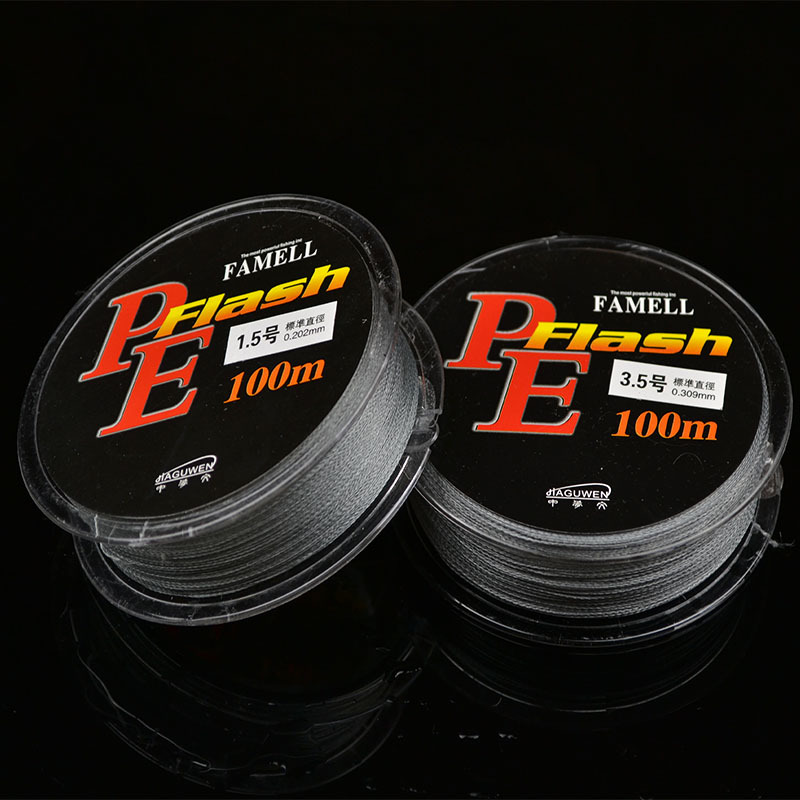 Super strong Fishing gear 4Strands braided fishing line 100m PE Carp Line Multifilament For Fishing Sea For Fishing Line