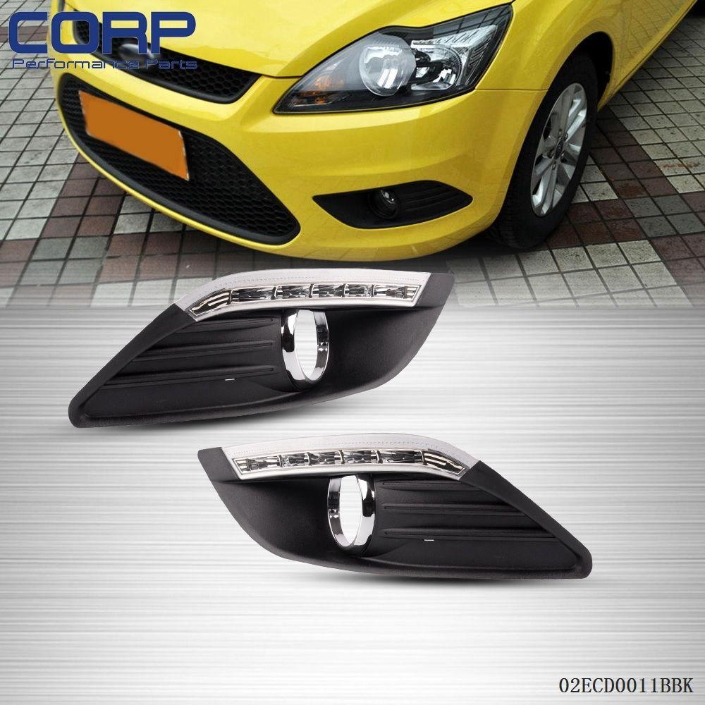 Автомобиль светодиодные дневные ходовые дальнего света Противотуманные, пригодный для Форд Фокус 3 Коробка