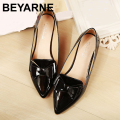 2016 spring flats single shoes woman casual bow pointed toe shallow mouth by factory EU 33-43