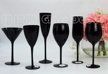 Black red wine champagne cocktail juice cup color lead-free glass  ornaments