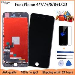 2019 100% AAAA ekran LCD dla iPhone 7 8 Plus ekran LCD wyświetlacz Digitizer moduł dotykowy 7 8 ekranów wymiana LCDS w Ekrany LCD do tel. komórkowych od Telefony komórkowe i telekomunikacja na