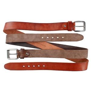 Image 5 - MEDYLA Fashion Mens Belt Top Natural Genuine Leather Sturdy Buckle Men Vintage Belt Suitable for Jeans Casual Pants