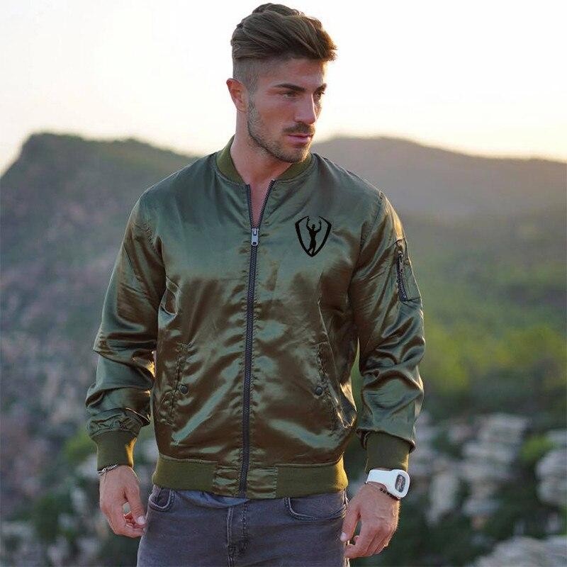 2018Autumn and winte New Men s Bomber Zipper Jacket Male Casual Streetwear Hip Hop font b