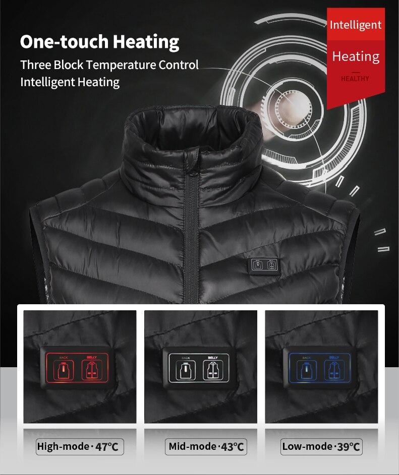 de pesca usb infravermelho aquecido colete jaqueta