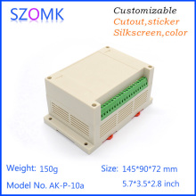 4 psc  abc material high switch sticker plastic din rail housing pcb  junction box for electronics 145*90*72mm