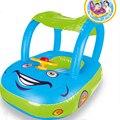 Baby Float Seat Car Sun Sombra Donut Anel da Nadada Do Bebê Inflável De Borracha Crianças Círculos Flotador Swimtrainer Nadar Acessórios