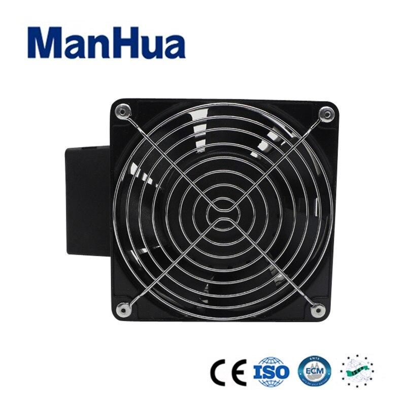 Manhua 230 V 100 W connecteur à vis 3 pôles 2.5mm2 ventilateur électrique avec chauffage ventilateur HVL031