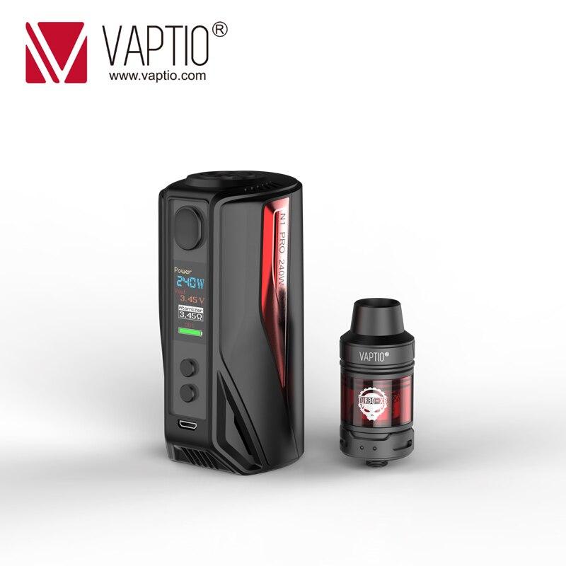 【LIMITED SALES】Vape KIT Vaptio N1 Pro LITE Kit 200W Electronic Cigarette 2.0ML Tank Box Vape Mod 510 Thread Fit 18650 Battery