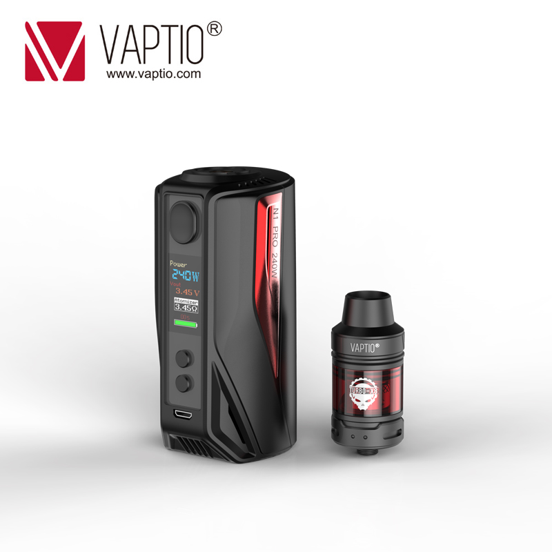 Vape KIT Vaptio N1 Pro LITE Kit 200W Electronic Cigarette 2.0ML Frogman Tank Box Vape Mod 510 Thread Fit 18650 Battery