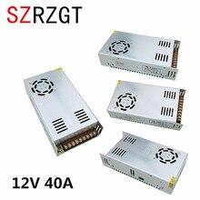 เอาท์พุทแหล่งจ่ายไฟ 12 โวลต์ 40A 480 วัตต์หม้อแปลงไฟฟ้า 220 โวลต์ AC To DC 12 โวลต์ SMPS สำหรับ electronics Led Strip Display