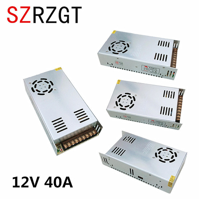 Single Output Switching power supply 12V 40A 480W Transformer 220V AC To DC 12 V SMPS For Electronics Led Strip Display