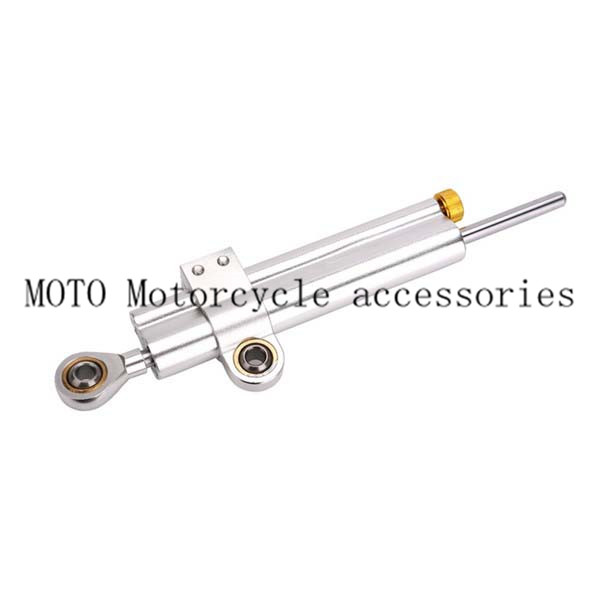 Universal CNC Aluminum Silver Motorcycle Steering Damper For Honda CBR 600 750 For Suzuki BMW S1000 Kawasaki Yamaha YZF R1 R6 epman universal black 3 76mm polished aluminum fmic intercooler piping kit diy pipe length 600mm for bmw e46 ep lgtj76 600