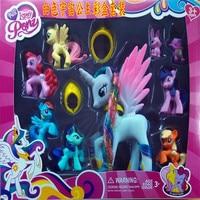 Beautiful Collection Model Toys For Children Anime Cartoon Lovely Rainbow Horse Princess Luna PVC Unicorn Ponies