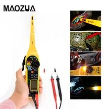 Универсальный автомобильный тестер электрической цепи 0-380 В Автомобильный мультиметр с лампой с ЖК-дисплеем MS8211 инструмент для ремонта автомобиля