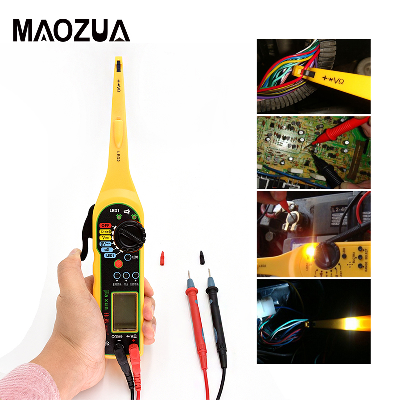 Universal Automotive Electric Circuit Tester 0-380v Automotive Multimeter Lamp With Lcd Screen Display Ms8211 Car Repair Tool Charging & Starting Systems