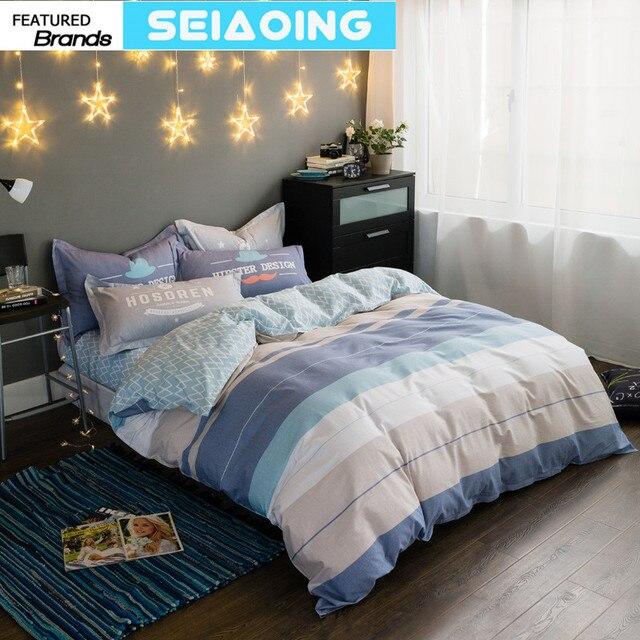 f3340dcbf RUSSA elegante roupa de cama 100% algodão capa de edredon listrado 4 5 pc