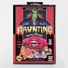 Haunting The Starring Poter Guy 16 bit MD card with Retail box for Sega MegaDrive Video Game console system