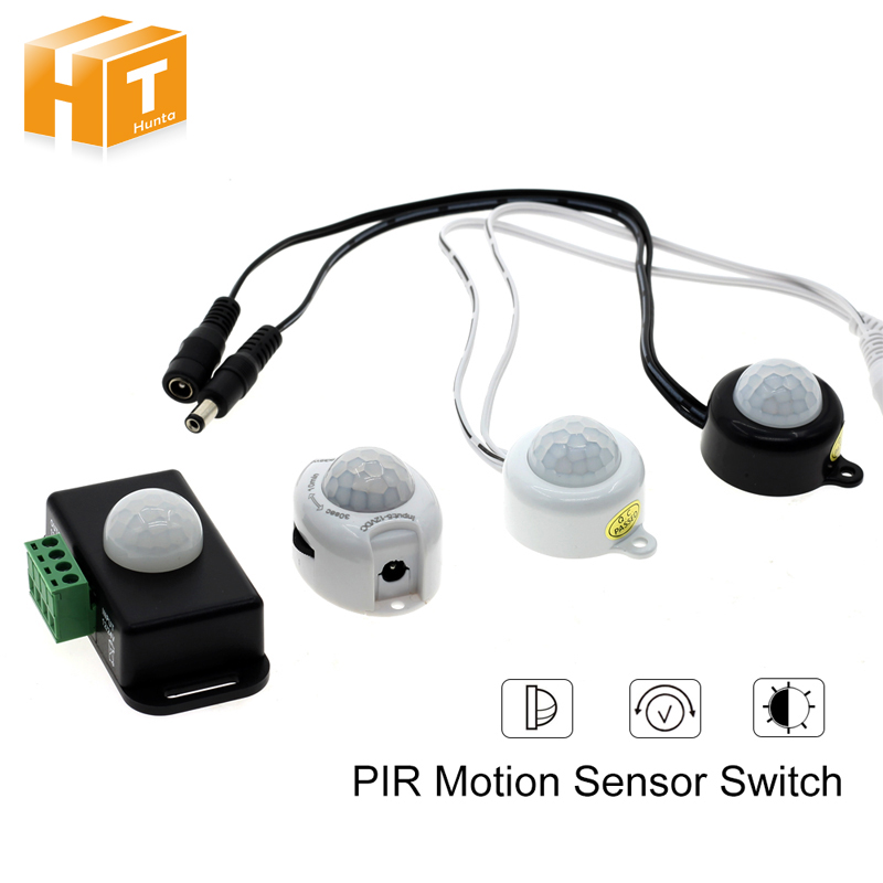 Human Body Infrared PIR Motion Sensor Switch DC12-24V 5A /6A With DC Plug For LED Strip energy saving 7w led ceiling downlight with pir human body motion sensor automatical switch
