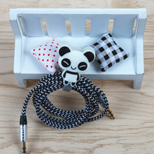 FFFAS Cute Cartoon Earphone Cable Button Winder Protector Wire Cord Organizer Holder for IPhone 5 5s