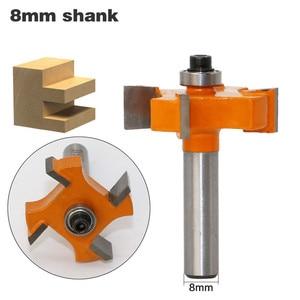 Image 2 - 1Pc 8mm Schaft T Slot Fräser Mit Top Lager Holzbearbeitung Router Bits Schneider Für Holz Rabbeting Bit großhandel Preis