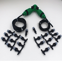 20M 4 7 Micro Tubing Garden Misting Cooling System 20 Plastic Mist Nozzle Sprinkler Atomizing Nozzle