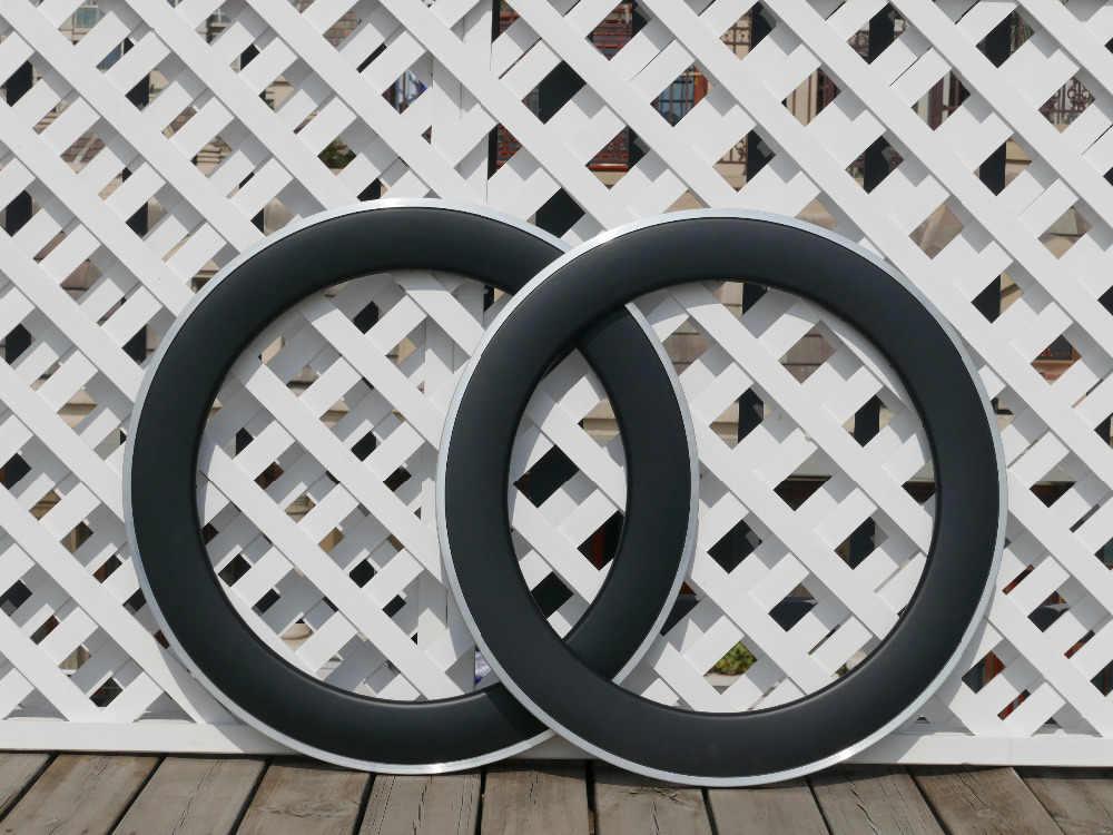 Large 23 25mm largeur 80mm pneu vélo jante alliage côté carbone route course jante + cadeau: porte-bidon de vélo