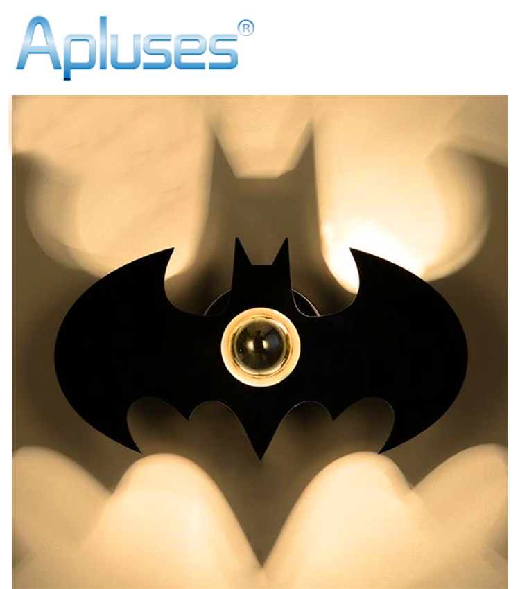 Fashion Modern Art High Indoor Wall Lamp For Home Bedroom Living Room Decoration Wall Light Black Batman