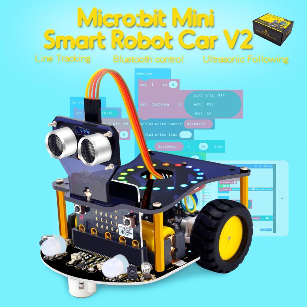 2019New Keyestudio Micro bit Mini Smart Robot Car V2 0 for Arduino No Micro bit Main