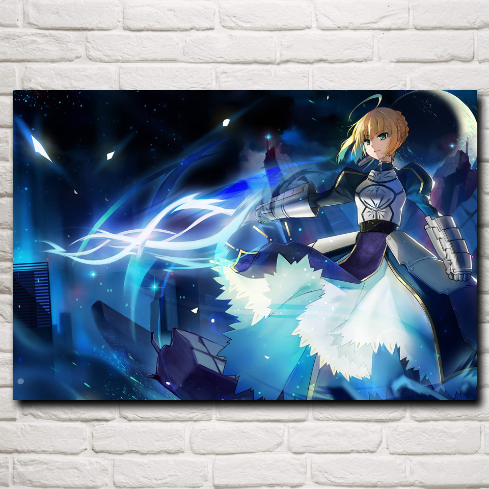 ᐅanime girls saber fate series art silk poster prints home wall