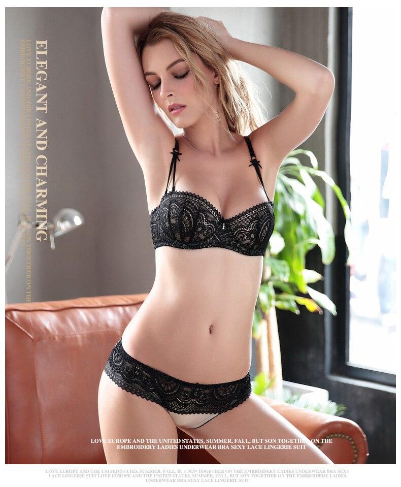 Plus Size70E 75E 80E 85E Luxury Sexy women Embroidery Push Up Lace Bra Set  Briefs  Lingerie  Underwear yw104-in Bra   Brief Sets from Underwear   Sleepwears  ... ef0c564b8