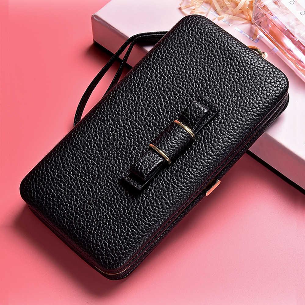 Tomkas النساء المحفظة حقيبة جلد حالة الهاتف ل xiaomi redmi 5 زائد 5 5a 4x آيفون 6 7 8 زائد x se سامسونج غالاكسي s9 s8 s7 s6
