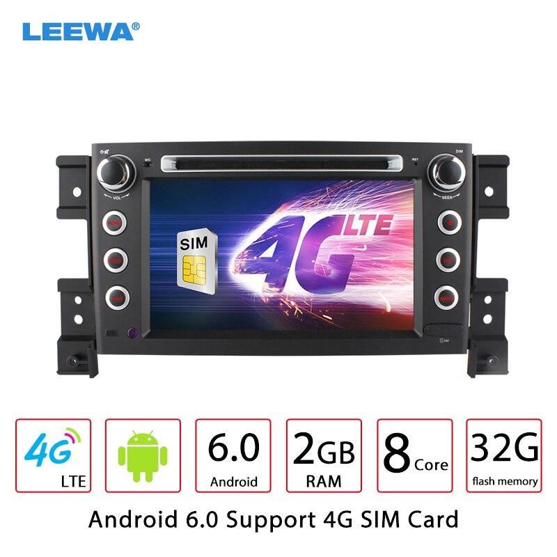 LEEWA 7 Android 6.0 (64bit) DDR3 2G/32G/4G LTE Octa Core Car DVD GPS Radio Head Unit For Suzuki Grand Vitara(Third generation) leewa 8 android 6 0 64bit ddr3 2g 32g 4g lte octa core car dvd gps radio head unit for great wall hover h3 h5 2010 2013