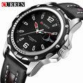 Curren sport marca hot relojes de los hombres relojes de cuarzo correa de cuero relojes de pulsera de los hombres reloj masculino reloj xfcs
