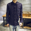 Winter Autumn Keep Warm Men Shirts New Fashion Casual Shirt Cotton Thicken Long Sleeve Floral Shirts Men Camisa Masculina 3xl