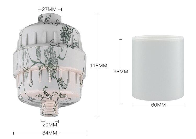 Душевой фильтр/энергетический фильтр душа/ванна головка фильтра/душем с комбинированной Carbon и KDF55 замена фильтров QY-SF13