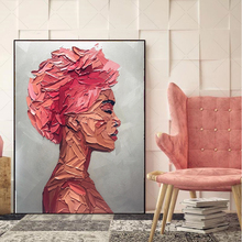 MUTU Portrait Red Woman Oil Painting By HD Printing machine On Canvas Wall Pictures For Living Room Modern Home Decor