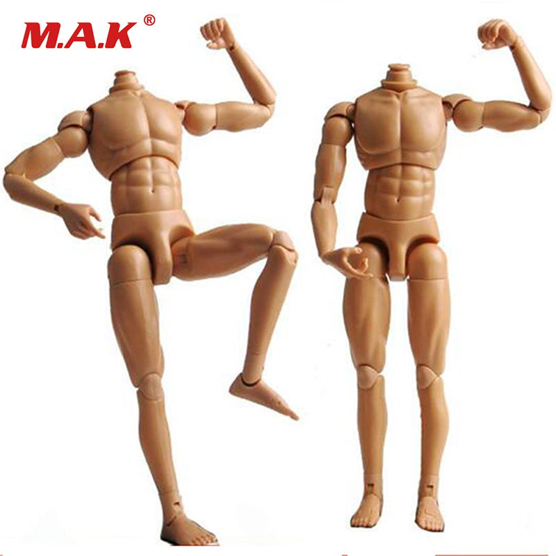 US 1//6 Scale Man Nude Moveable Male Muscular Body For 12/'/' Doll Head Head Sculpt