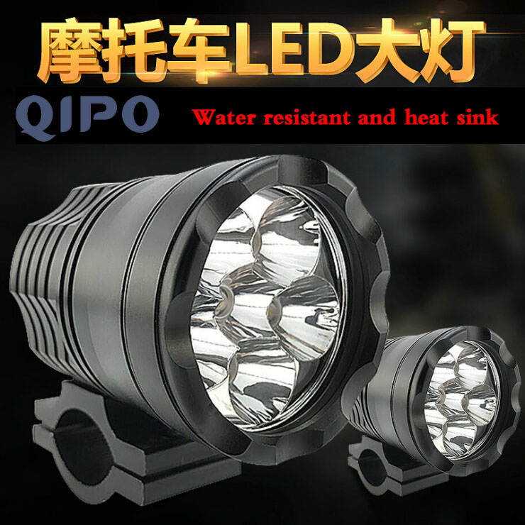 QIPO 2pcs 6Lamp beads Motorcycle LED lights External to shoot the light car styling drl Light Motorbike Driving fog light 40W