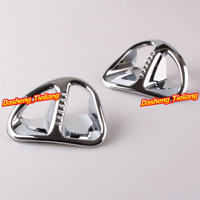 For Honda Goldwing GL1800 Fairing Martini Air Intake Grills 2001-2011 Decoration Bokykits Parts Accessories Chrome fairing gas tank door trim for honda goldwing gl1800 2001 2011 decoration bokykits parts accessories chrome brand new