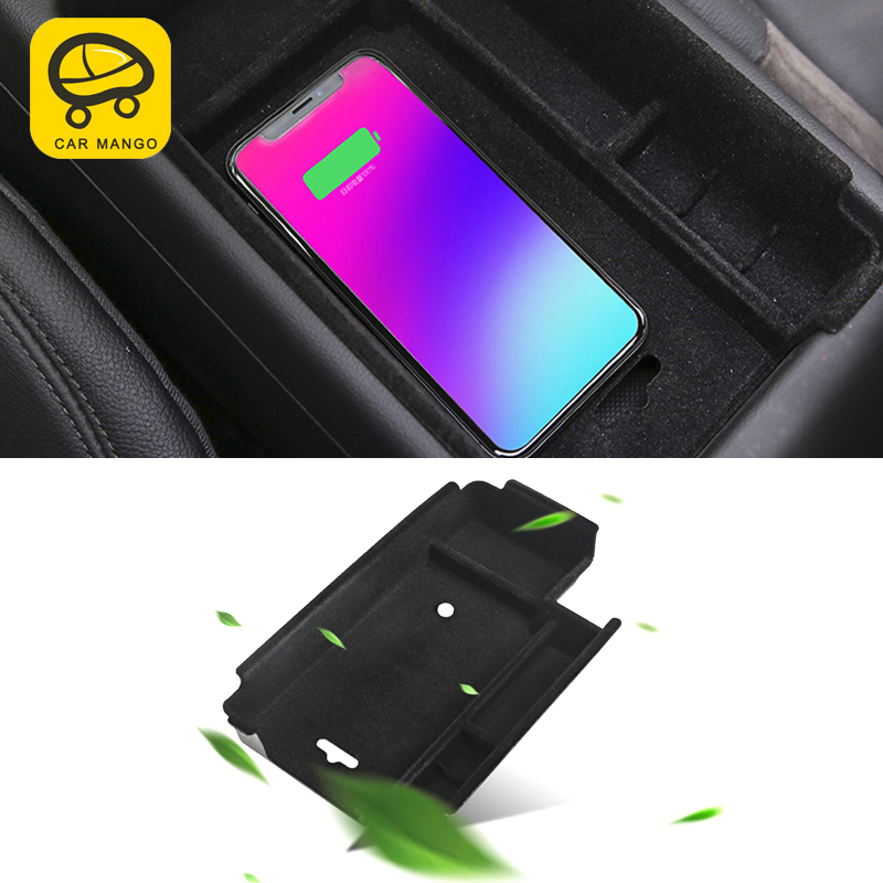CarManGo For Audi A4 B9 2017 2018 Car Wireless charging central storage box accessories
