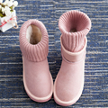 Women shoes boots snow boots women genuine leather flat short cotton padded shoes woman slip resistant ankle boots for women sty