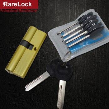 Handle Door Lock Cylinder 9 Size 7keys for Bedroom Bathroom Interior Locks Hardware Accessory Rarelock