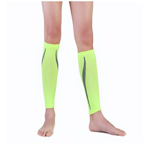 Compression Sport Running Socks Crural Sheath Pressure Running&Protection Outdoor Basketball Football Socks,green