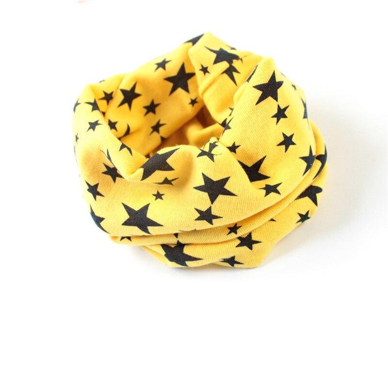 Кольца с принтом звезд, шарфы для подогреватель детей, шарф на осень и зиму для мальчиков и девочек, шейный платок, шапка, маска - Цвет: yellow