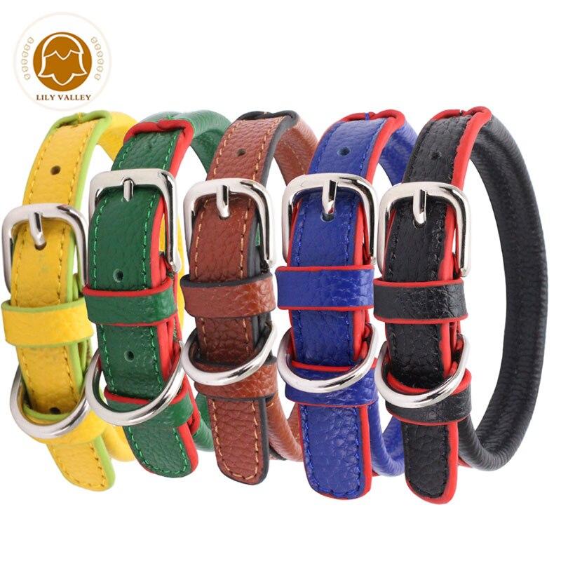 Comfortable Dog Collars Pu Leather Adjustable Dog Collar