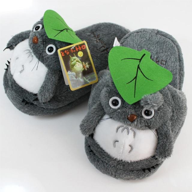 HOT Anime My Neighbor Totoro: Soft Gray Totoro Plush Slippers Gift