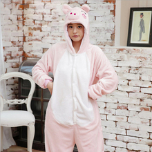 New Arrival Women s Pig Animal Pajamas For Adults Full Sleeve Hooded Microfiber Pajama Sets Sexy